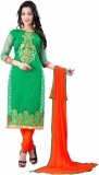 The Fashion World Chanderi Embroidered, ...