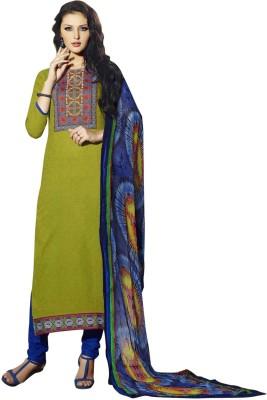 Vashtra Cotton Embellished, Solid Salwar Suit Dupatta Material
