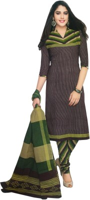 Shree Ganesh Cotton Striped Salwar Suit Dupatta Material