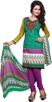 Jiya Crepe Self Design, Printed Salwar Suit Dupatta Material
