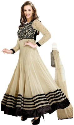 Dream Fashion Georgette Embroidered Semi-stitched Salwar Suit Dupatta Material