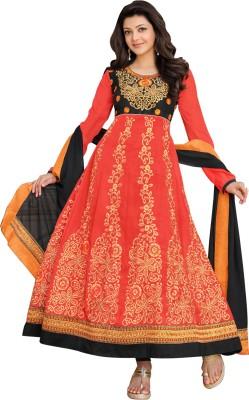 Fabfiza Georgette Embroidered Semi-stitched Salwar Suit Dupatta Material