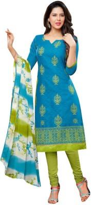 Akshaya Fashons Jacquard Embroidered Semi-stitched Salwar Suit Dupatta Material