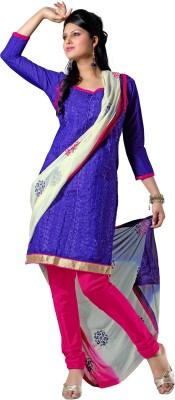 Vastrakosh Chanderi Embroidered Salwar Suit Dupatta Material
