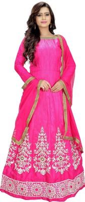 PRIYANSHU CREATION Satin Embroidered Salwar Suit Dupatta Material