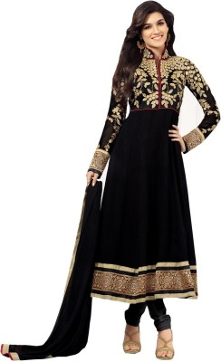 Vandv Shop Georgette Self Design Semi-stitched Salwar Suit Dupatta Material