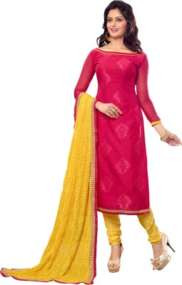Seemaya Chanderi Embroidered Salwar Suit Dupatta Material