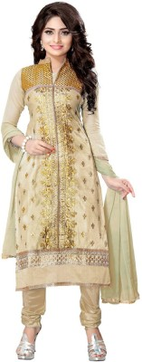 Styles Closet Chanderi Embroidered Salwar Suit Dupatta Material
