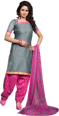 Angel Designer Cotton Printed Semi-stitched Salwar Suit Dupatta Material