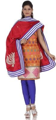 Chhabra 555 Chanderi Self Design Salwar Suit Dupatta Material