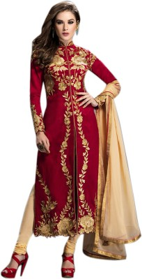 Thankar Georgette Embroidered Semi-stitched Salwar Suit Dupatta Material