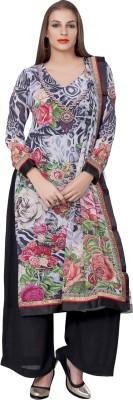 Vishal Prints Georgette Self Design Salwar Suit Dupatta Material
