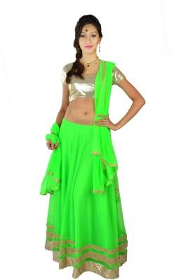 Sai Chhaya Net Self Design Semi-stitched Lehenga Choli Material