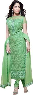 Saugat Cotton Linen Blend Embroidered Salwar Suit Dupatta Material