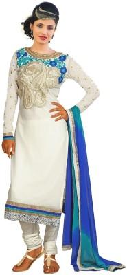 Fabboom Georgette Self Design Semi-stitched Salwar Suit Dupatta Material
