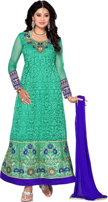 Vastrakosh Net Embroidered Semi-stitched Salwar Suit Dupatta Material