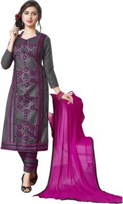 Swaron Cotton Embroidered Salwar Suit Dupatta Material(Un-stitched) at flipkart