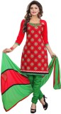 Family Shop Cotton Embroidered Salwar Su...