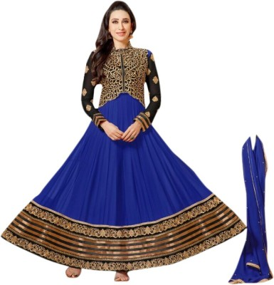 Today Deal Georgette Embroidered Salwar Suit Dupatta Material