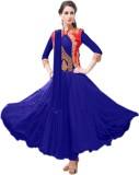 Fabliva Net Embroidered Salwar Suit Dupa...