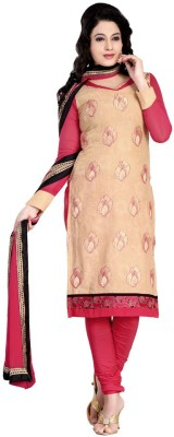 Shivamtextilehouse Cotton Embroidered Semi-stitched Salwar Suit Dupatta Material