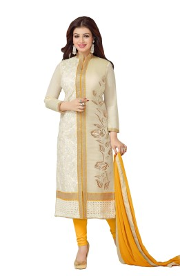 Exciting Deals Cotton Embroidered Semi-stitched Salwar Suit Dupatta Material