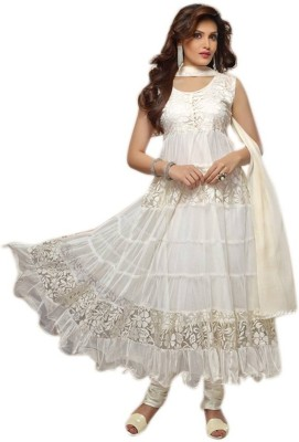 Fabiola Trendz Net Embroidered Semi-stitched Salwar Suit Dupatta Material