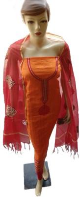 kamakshi selections Cotton Printed Semi-stitched Salwar Suit Dupatta Material