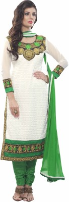 Shree Vardhman Georgette Embroidered Dress/Top Material