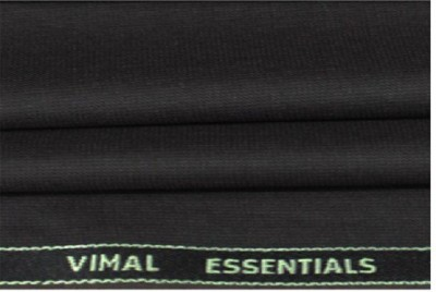 VIMAL SUITING Polyester, Viscose Solid Trouser Fabric