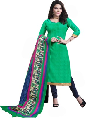 Manjaree Cotton Silk Blend Solid Salwar Suit Dupatta Material