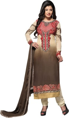 Diva Divine Crepe Embroidered Semi-stitched Salwar Suit Dupatta Material