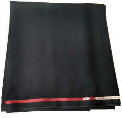 Kundan Cotton Polyester Blend Solid Trouser Fabric
