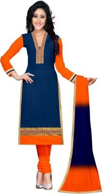 Mandani Fashion Cotton Embroidered Semi-stitched Salwar Suit Dupatta Material