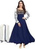MS Fashion Georgette Embroidered Salwar ...