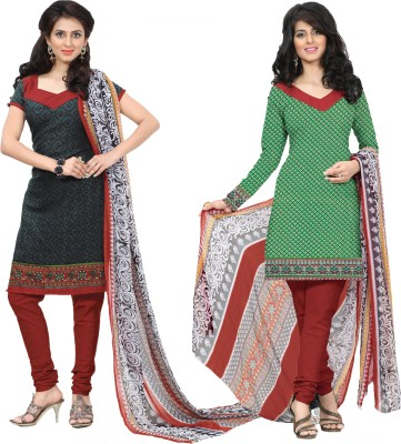 Inaaya Collections Cotton Printed Salwar Suit Dupatta Material