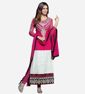 Styla Georgette Embroidered Salwar Suit Material