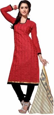 Lizafab Chanderi Embroidered Salwar Suit Dupatta Material