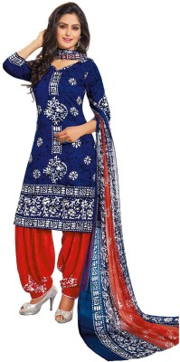 Jevi Prints Synthetic Printed, Geometric Print Salwar Suit Dupatta Material