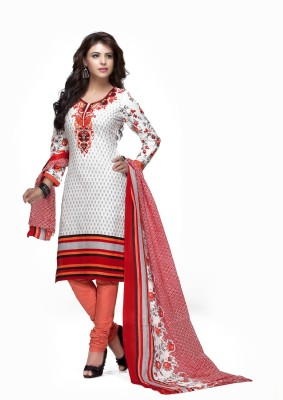 Bhanderi Enterprise Cotton Printed Salwar Suit Dupatta Material