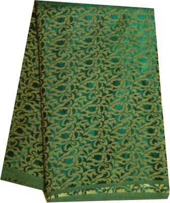 JDK NOVELTY Brocade, Art Silk, Organza Floral Print Multi-purpose Fabric
