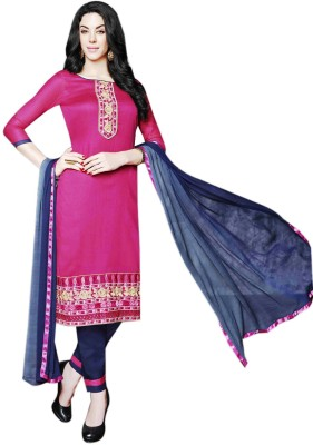 VenusINDR Cotton Embroidered Semi-stitched Salwar Suit Dupatta Material