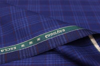 Raymond Wool Checkered Jacket Fabric(Un-stitched)