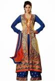 Fabfirki Fashion Hub Georgette Embroider...