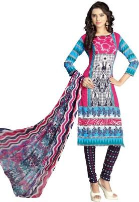 JK apparels Polyester Printed Salwar Suit Dupatta Material