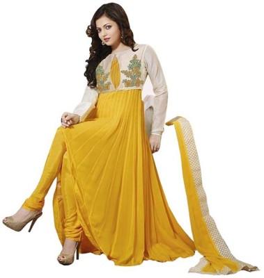 SkyBlue Fashion Georgette Harringbone Semi-stitched Salwar Suit Dupatta Material