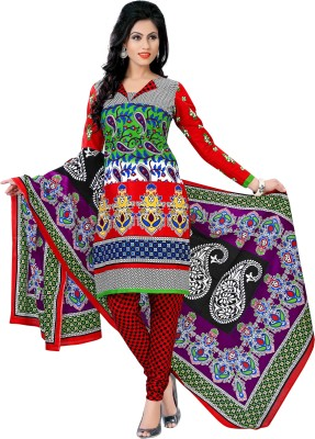 TulsiCloth Cotton Printed Salwar Suit Dupatta Material