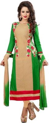 Wedding Villa Cotton Embroidered Semi-stitched Salwar Suit Dupatta Material