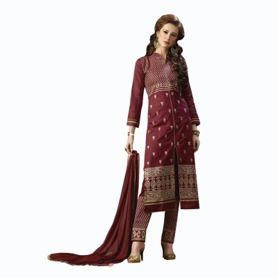 RSquare Dress Cotton Embroidered Salwar Suit Dupatta Material