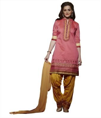 Kvsfab Chanderi Embroidered Salwar Suit Dupatta Material